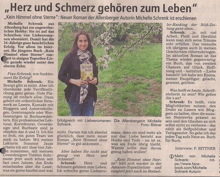 Zeitungsbericht Michelle Schrenk